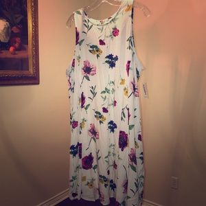 NWT old Navy white floral print dress size XL